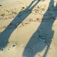 浜辺 人影
