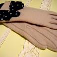 りぼんのついた手袋